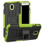 Green Samsung Galaxy J7 Pro (2017) Heavy Duty Hybrid Kickstand Case
