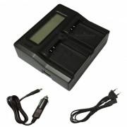 Ismartdigi EL20 LCD Dual Cargador para Nikon EN-EL20-Negro (enchufe de la UE)