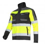 Jacheta reflectorizanta slim-fit, 5 buzunare, benzi reflectorizante, cusaturi triple, marime 2XL