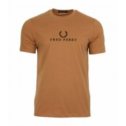 Fred Perry Camiseta Fred Perry Tonal Embroidered L Large Marrón