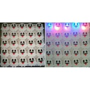 25 PC LED Light Up Halloween Flashing Party Favor Pins - Pumpkins or Ghosts by Mammoth Sales (Ghost)