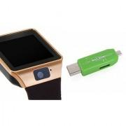 Zemini DZ09 Smart Watch and Card Reader for SAMSUNG GALAXY ON 7(DZ09 Smart Watch With 4G Sim Card Memory Card| Card Reader Mobile Card Reader)