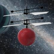 Eh RC Infrarrojos Inducción Helicóptero Aviones Flying Ball Con LED Kid Toy-Rojo