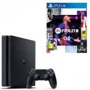 Конзола PlayStation 4 Slim 500GB Black, Sony PS4 + ИГРА Electronic Arts FIFA 21 (PS4)