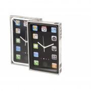 Wandklok zwart smartphone design