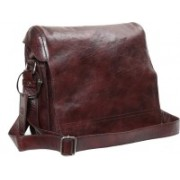 OHM New York Imported Series Messenger Bag(Brown, 12)