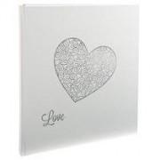 Exacompta Fotoalbum HARMONY - boekgebonden - 60 witte bladen - 29x32cm - Glittery wit (16754E)