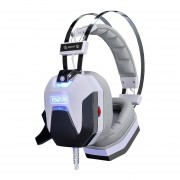 Audífonos Gamer, JD-T8 Game Headphone 7.1 Sonido Envolvente Con Luz LED USB (blanco)