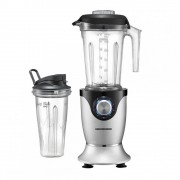 Blender de masa Heinner High Speed Blender HB-HS1000XMC, 1000W, 22000 RPM, 7 viteze+Pulse, 2 Recipiente, Aluminiu turnat