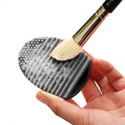 Silicone Cleaning Cosmetic Make Up Washing Brush Cleaner Scrubber Tool(Black)