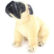 Stylewell Realistic Stitching Soft Stuffed Small Fantastic Toy Bull Dog for Home Car And Bedroom Decoration - 20 Cm
