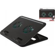 Trust - Cyclone - Laptop Cooling Stand - 2 Ventilatoren - USB-voeding - Aanpasbare kantelen - max 16 inch