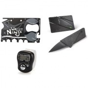Right Traders Credit card knife with finger ring tally counter ( pack of 3)