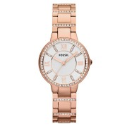 Fossil Virginia Ladies Stone Set Rose Gold Watch