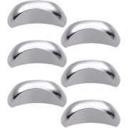 Doyours Chrome Cabinet Knob White Metal - Set of 6