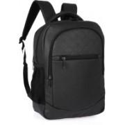 Fur Jaden Black Textured Leatherette Waterproof Laptop Backpack 28 Laptop Backpack(Black)