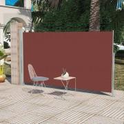 vidaXL Toldo retrátil lateral para pátio, 180 x 300 cm, castanho