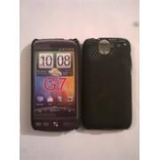 Черен силиконов твърд гръб за HTC Desire