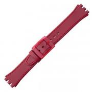 Curea ceas tip Swatch din piele naturala nr. 384 [17-SW12]