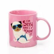 David & Goliath Sexy Pink Pug Mug
