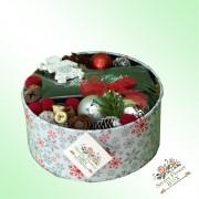 """""""Christmas box"""" cu globuri personalizate si ciocolată"""