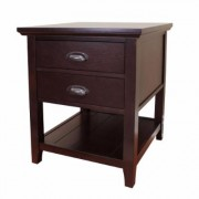 DonnieAnn Lindendale 2-Drawer Espresso End Table, Brown
