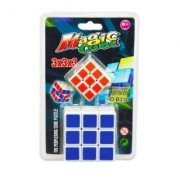 GDS -2 Magic Set cube puzzles Stickerless - 3x3x3 Speed Cube, Multi Color