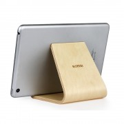 SAMDI Real Wood Desktop Stand for iPhone iPad Samsung Mobile Phones & Tablets - White Birch