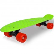 vidaXL Retro Skateboard with Green Top Red Wheels 6.1""