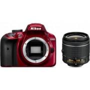 Aparat foto DSLR Nikon D3400 24MP + Obiectiv AF-P DX 18-55mm VR Red