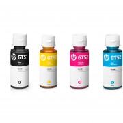 Combo de Botella de Tinta HP GT51-Negro + GT52-Amarillo + GT52-Cian + GT52-Magenta