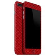 "Apple iPhone 7 Plus (5.5"") FoliaTa Skin Kit Carbon Fata / Spate, Red"