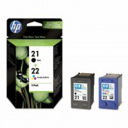 SD367AE Tintapatron multipack DeskJet 3920, HP 21/22 fekete, színes, 190+165 oldal (TJHSD367A)