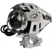 Lumeno U5 Motorcycle Spot Light - 3000 Lumen / 200m, Silver