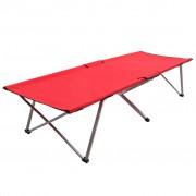 vidaXL Къмпинг легло, 206x75x45 см, XXL, червено