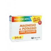 Massigen Magnesio E Potassio Zero Zuccheri Integratore Alimentare, 24 +6 Bustine