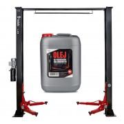 Podnośnik dwukolumnowy samochodowy 4T REDATS L-250 półautomatyczny + Olej gratis - L-250 Półautomat / górna belka