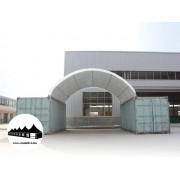 Konténer fedés 8x12m - 720g/m2 PVC / Tűzálló / Fehér