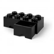 LEGO® Černý úložný box se dvěma šuplíky LEGO®