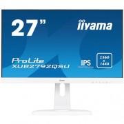 27'' iiyama XUB2792QSU-W1 - IPS,WQHD,5ms,350cd/m2, 1000:1,16:9,DVI,HDMI,DP,USB,repro,výšk.nast.,pivot