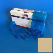 Ulith kesztyű vinyl púdermentes kék-áttetsző S-es méret