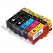 Paquete De 5 Cartuchos De Tinta Para Canon CLI-221 PGI-220 Pixma MP560 No OEM-5 Colores