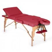 MT 500 Lettino Da Massaggio 210 cm 200 kgPieghevole Schiuma a Celle Chiuse Borsone Rosso