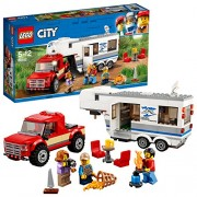LEGO City Vehicles Pickup and Caravan Building Blocks for Kids 5 to 12 Years ( 344 Pcs) 60182 (Multi Color)