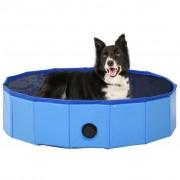 vidaXL összehajtható kék PVC kutyamedence 80 x 20 cm