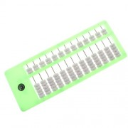 Segolike Plastic Portable Plastic Chinese Abacus Soroban Math Learning Calculating Tool Educational Toy Green