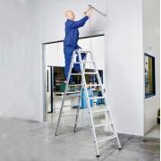 Zarges gebördelte Stehleiter, eloxiert Saferstep B 2x5 Stufen