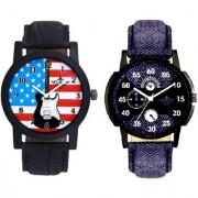 Denim Finish Blue With Star USA Guitar SCK Combo Gallery Wrist Watch