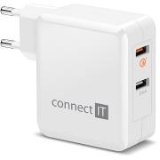 CONNECT IT InWallz QUALCOMM QUICK CHARGE 3.0 fehér
