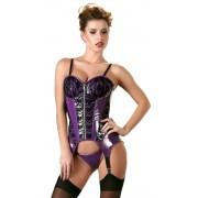 Body Corset Latex Look Violet
